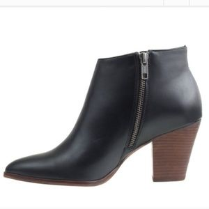 J. Crew Laine black leather ankle booties